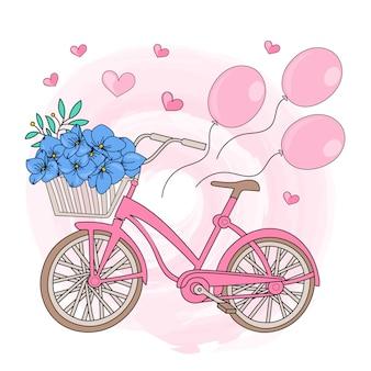 Bicyclette fête de la saint valentin