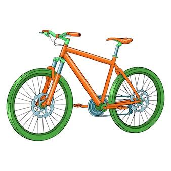 Bicyclette. journée internationale du vélo. vélo dessiné en style cartoon. illustration vectorielle pour la conception et la décoration.