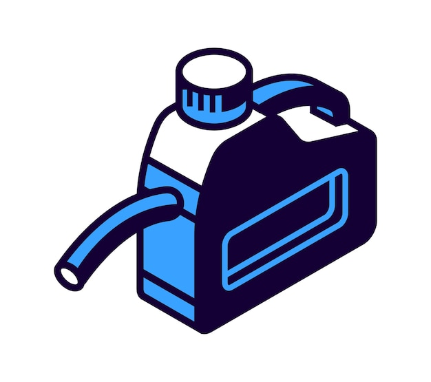 Bidon d'essence avec buse