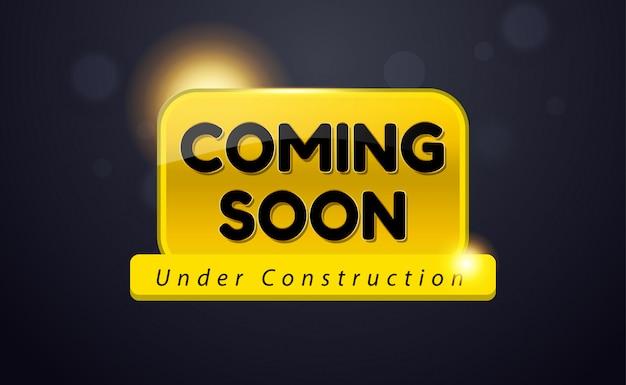 Bientôt en cours de conception de promotion de la construction
