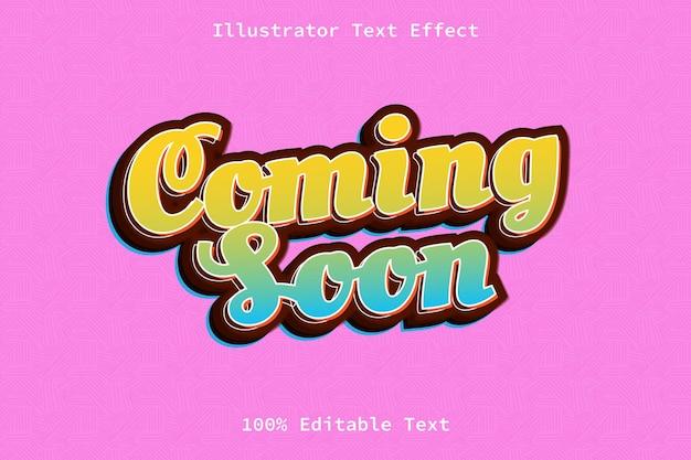 Bientôt disponible avec un effet de texte modifiable de style dessin animé
