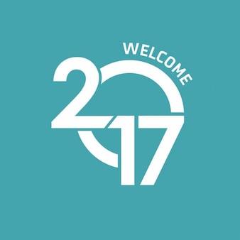 Bienvenue 2017 lettrage