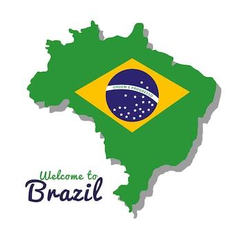 Bienvenue au brésil représentant des icônes vector illustration design