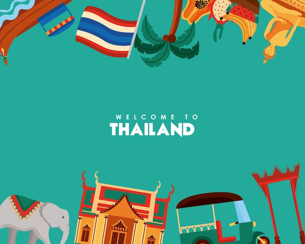 Bienvenue à la bannière de la thaïlande