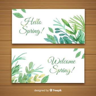 Bienvenue bannières de printemps