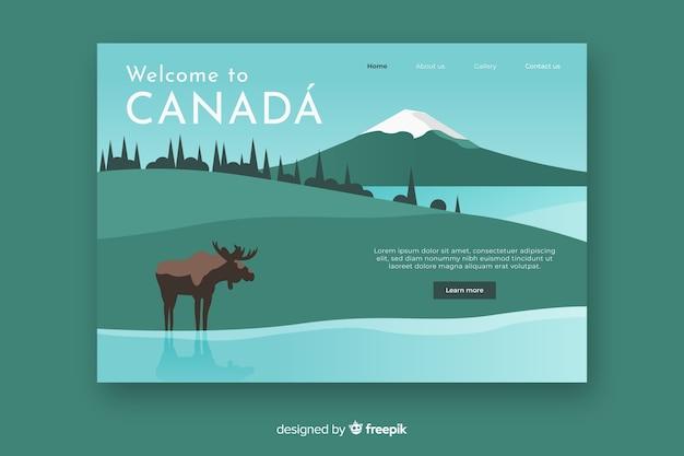 Bienvenue sur canada landing page
