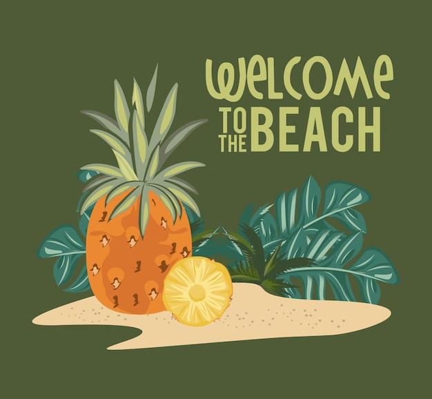 Bienvenue sur la carte été plage