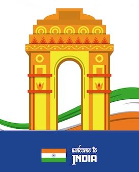 Bienvenue sur la carte de l'inde avec des informations