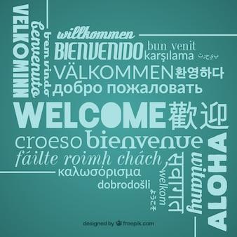 Bienvenue à la composition dans différentes langues
