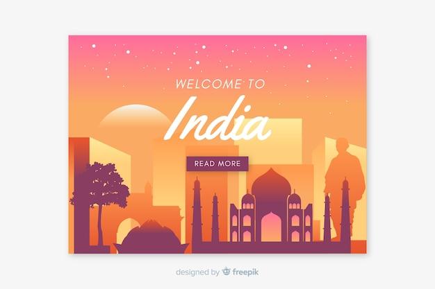 Bienvenue dans le modèle de page de destination inde