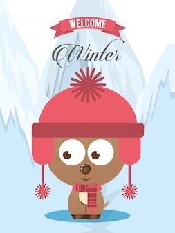 Bienvenue design d'hiver