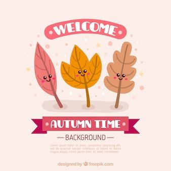 Bienvenue, fond d'automne