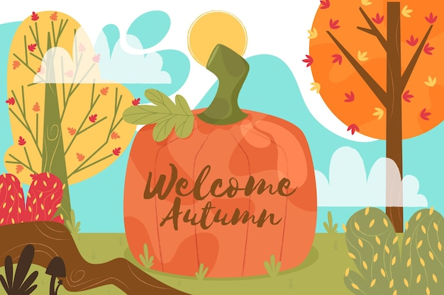 Bienvenue fond d'automne