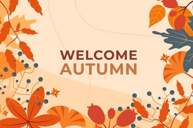 Bienvenue fond d'écran d'automne