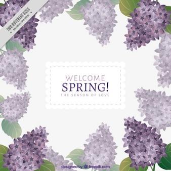 Bienvenue fond de printemps