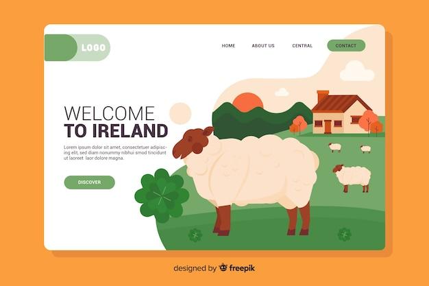 Bienvenue sur l'ireland landing page