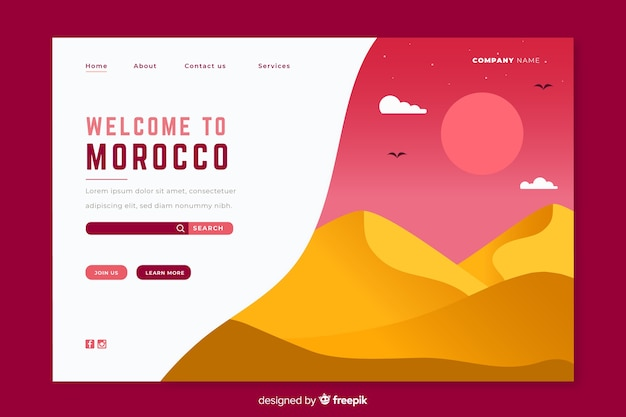 Bienvenue sur le modèle de page de destination du maroc