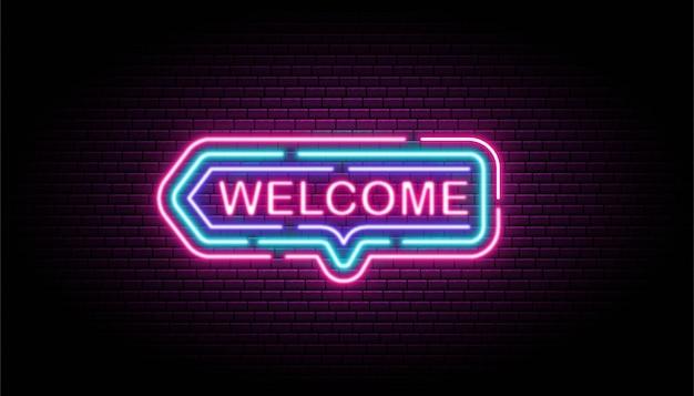 Bienvenue en néon sur le mur