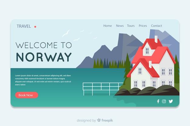 Bienvenue sur la norvège landing page
