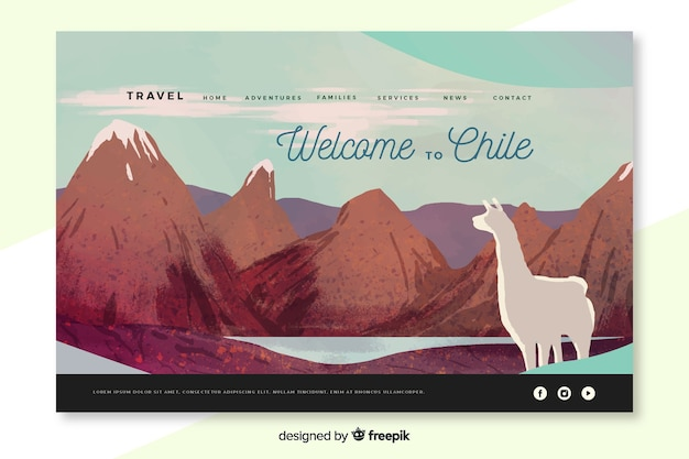 Bienvenue sur la page d'accueil de chili