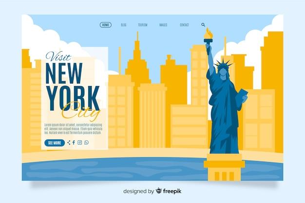 Bienvenue sur la page d'atterrissage de new york