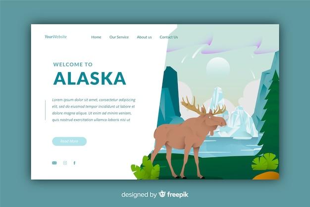 Bienvenue sur la page de destination de l'alaska