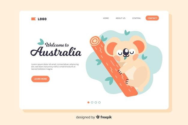 Bienvenue sur la page de destination de l'australie