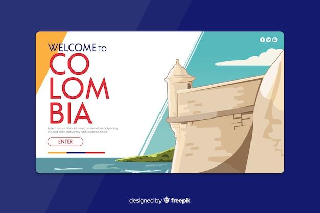 Bienvenue sur la page de destination colombie