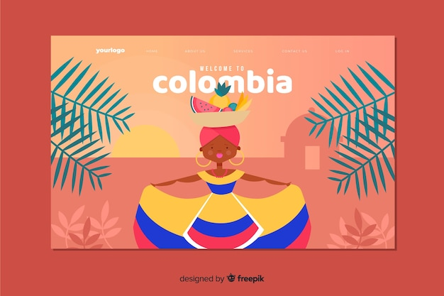 Bienvenue sur la page de destination colombie