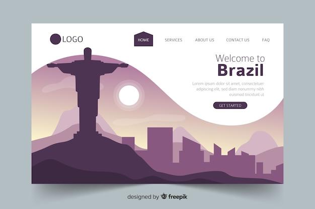 Bienvenue sur la page de destination du brésil