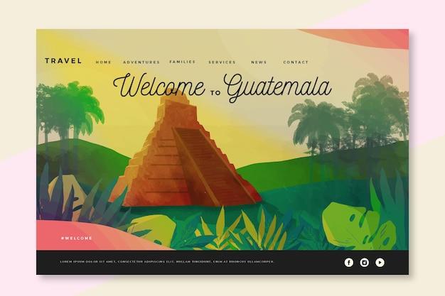 Bienvenue sur la page de destination du guatemala