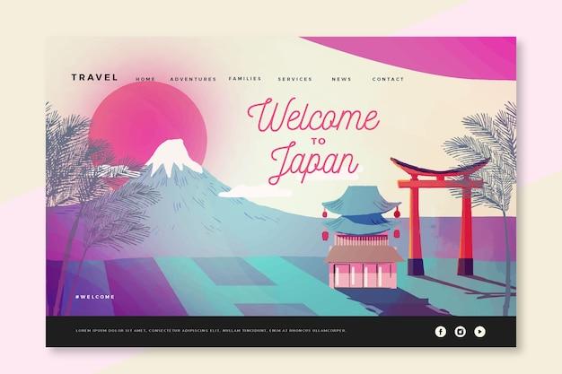 Bienvenue sur la page de destination du japon