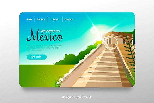 Bienvenue sur la page de destination du mexique