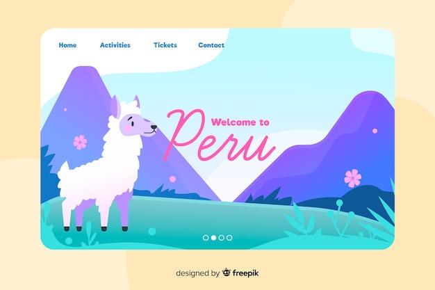 Bienvenue sur la page de destination du pérou
