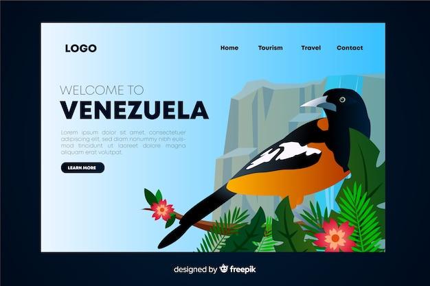 Bienvenue sur la page de destination du venezuela