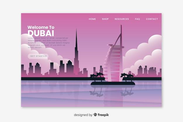 Bienvenue sur la page de destination de dubaï