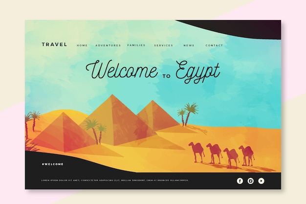 Bienvenue sur la page de destination de l'égypte