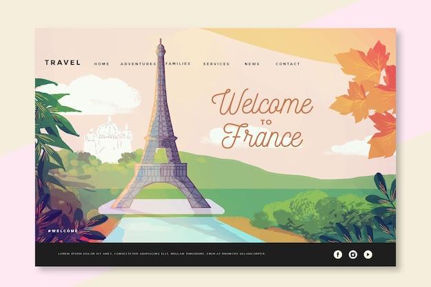 Bienvenue sur la page de destination de la france