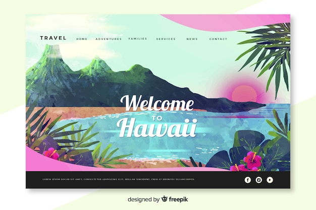 Bienvenue sur la page de destination d'hawaï