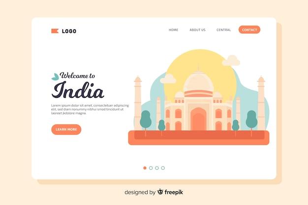 Bienvenue sur la page de destination en inde