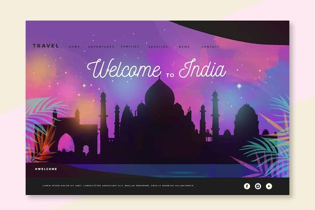 Bienvenue sur la page de destination de l'inde