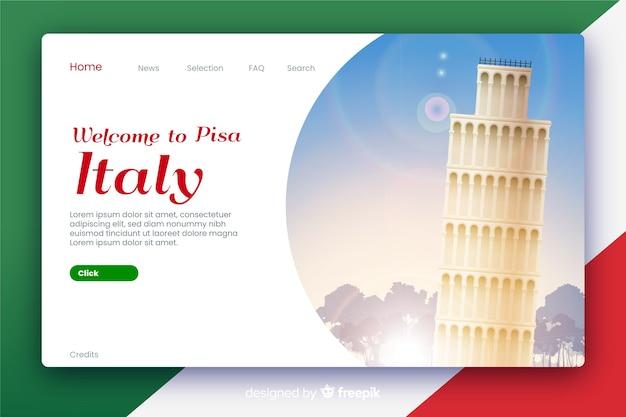 Bienvenue sur la page de destination en italie