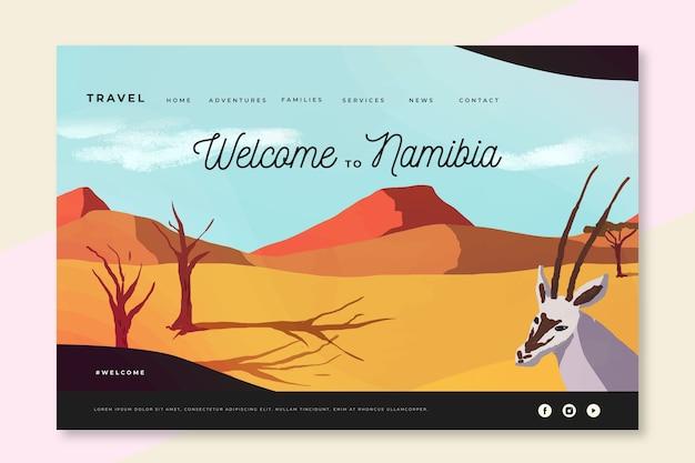 Bienvenue sur la page de destination de la namibie