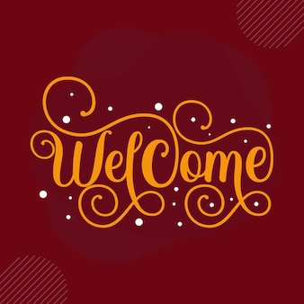Bienvenue premium bienvenue lettrage vector design