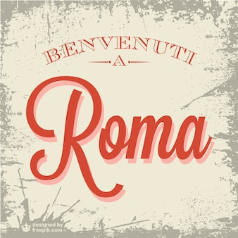 Bienvenue à rome vecteur
