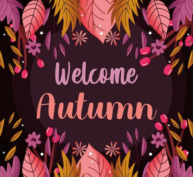 Bienvenue saison des feuilles d'automne