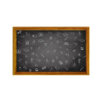 Bienvenue à schoo with black board