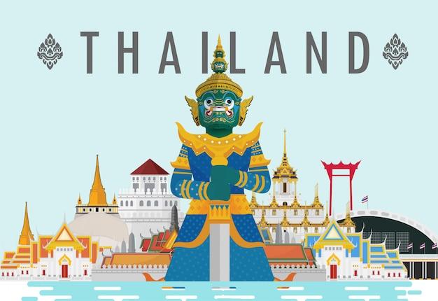 Bienvenue en thaïlande et au géant des gardiens, thaïlande