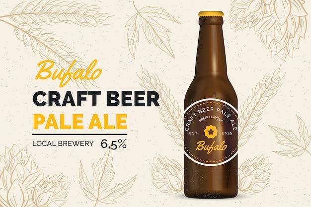 Bière annonce avec illustration vintage