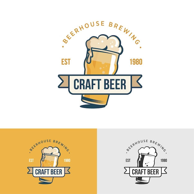 Bière artisanale vintage originale